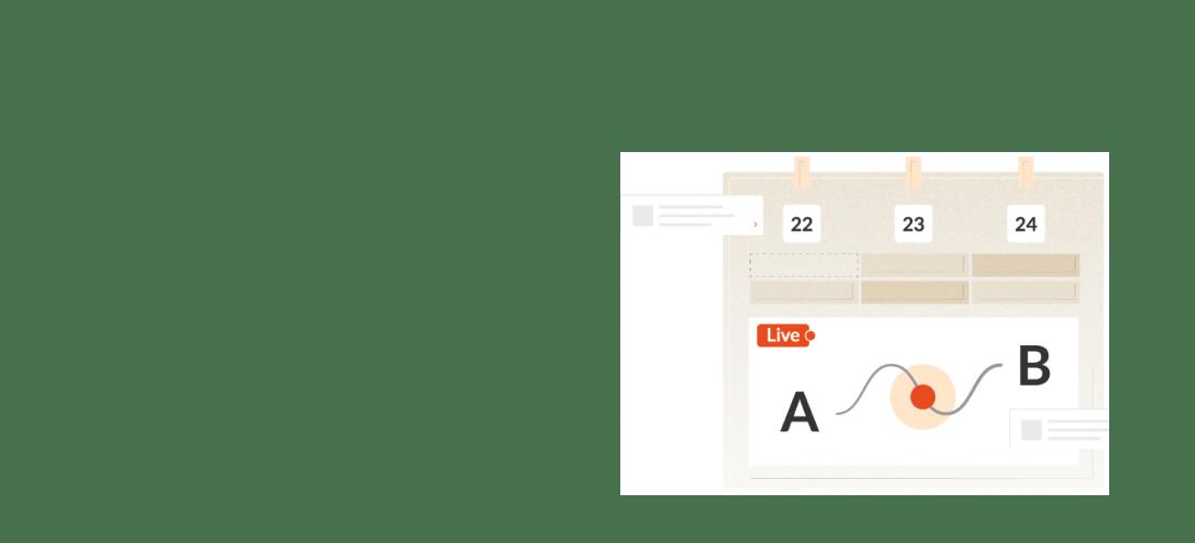 Plannen op het digitale planbord
